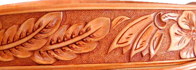 One of my own hand-tooled leather belts